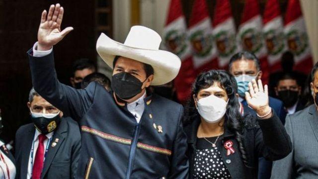 First Lady Pedro Castillo and Lilia Paredes