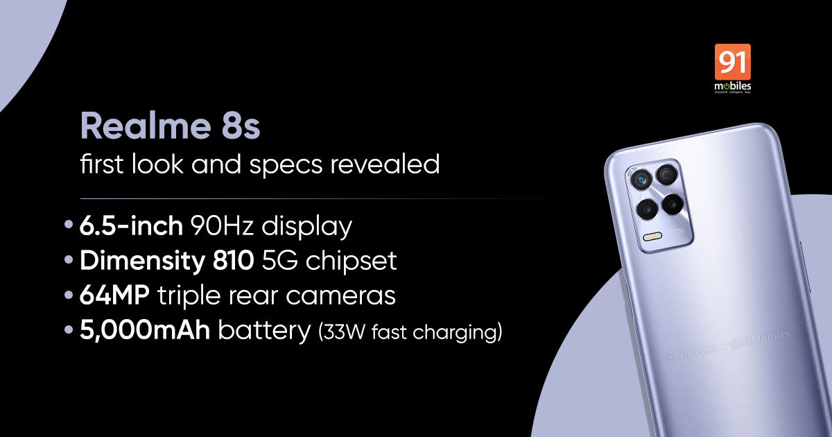 Realme savors and expands the Realme 8 series: this is how the 8s model will be (photo)