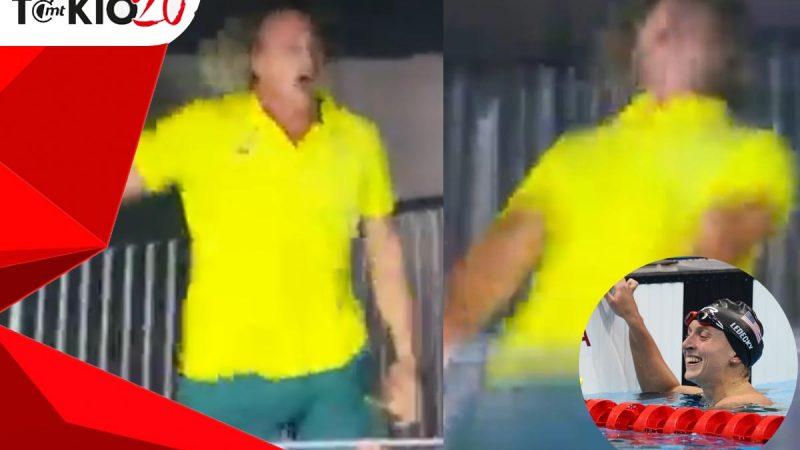 Australia coach rejoiced after winning gold from Ledecky |  Video
