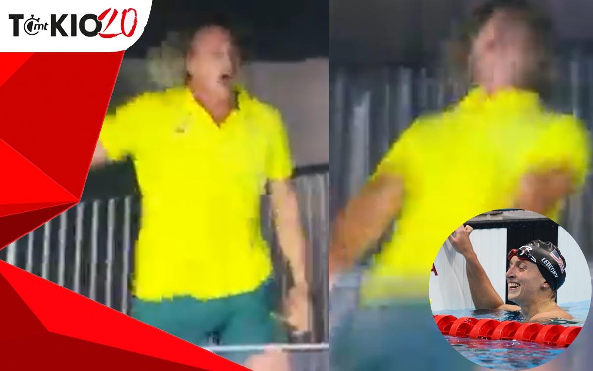 Australia coach rejoiced after winning gold from Ledecky    Video