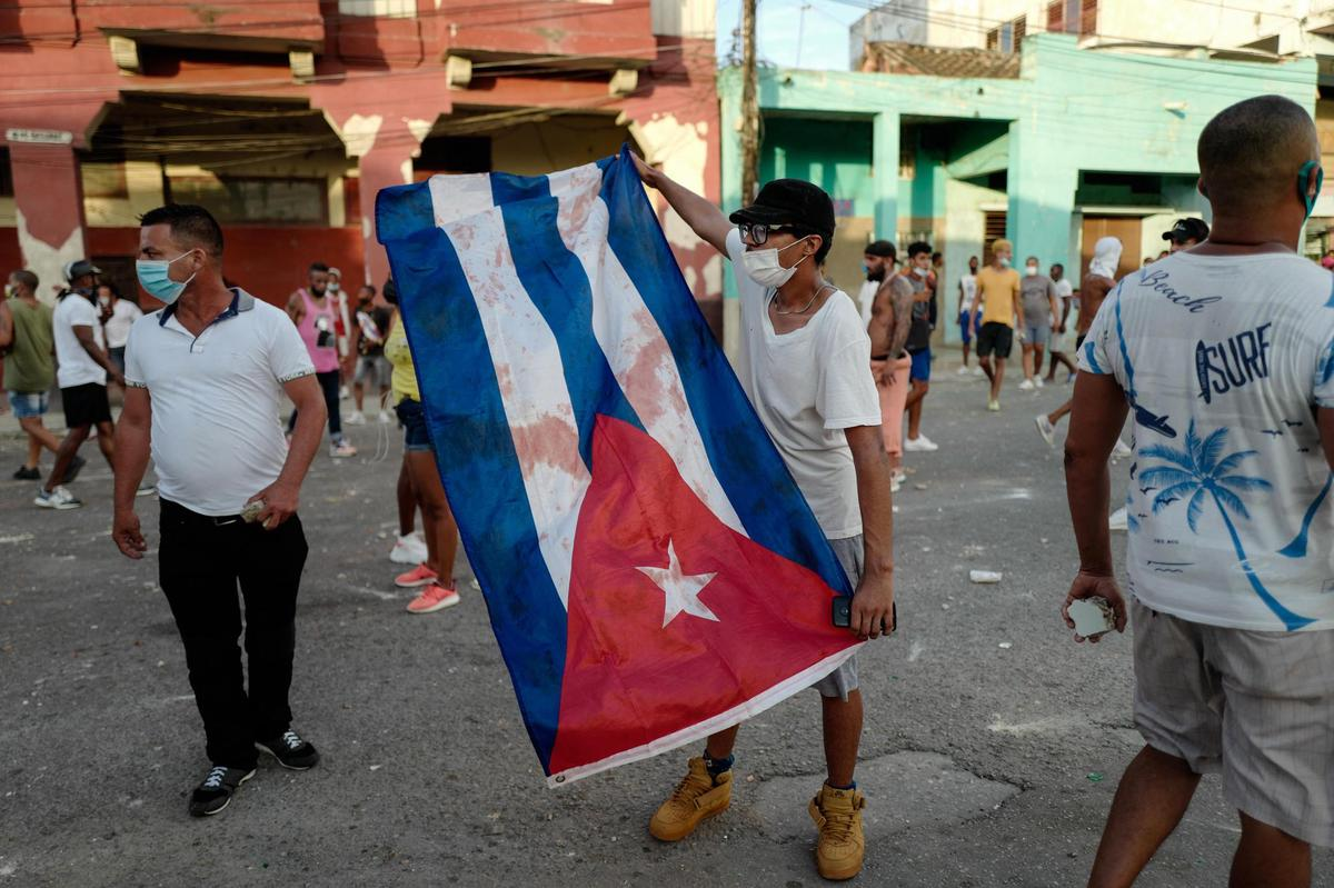 Rare demonstrations erupted Sunday in several Cuban cities.