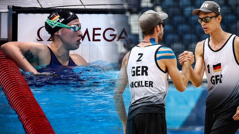 Sarah Köhler (links) landet über 800 Meter nur auf Platz sieben. Die Beachvolleyball-Vizeweltmeister Clemens Wickler und Julius Thole stehen hingegen im Achtelfinale.