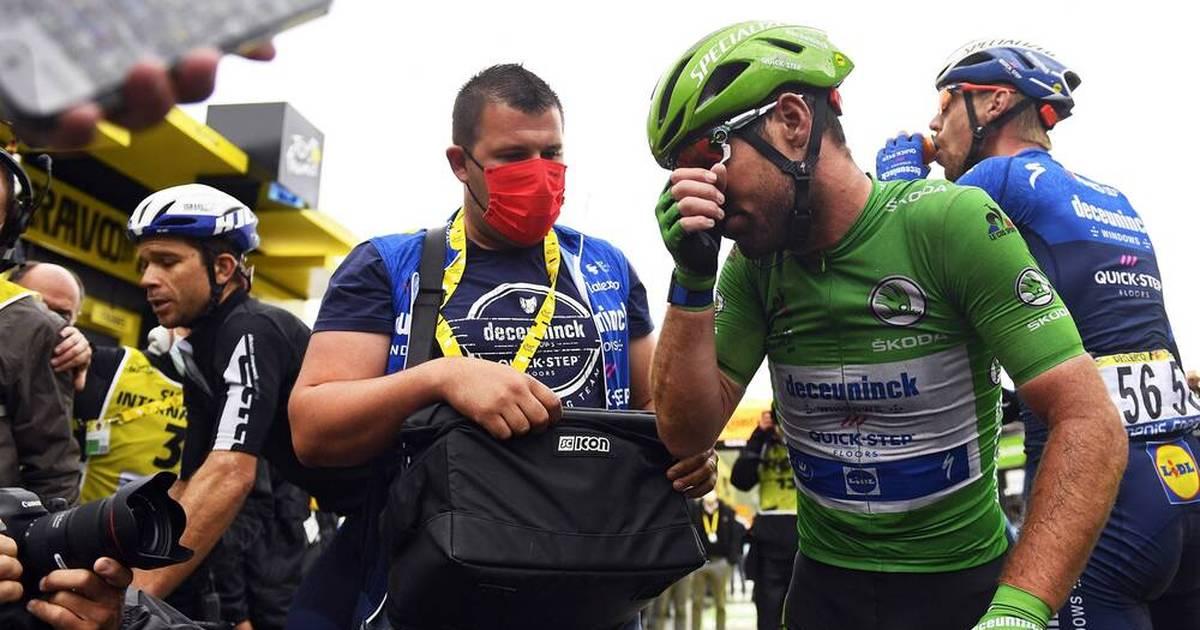 Mark Cavendish of Deceuninck-Quick-Step As Tears Arrive