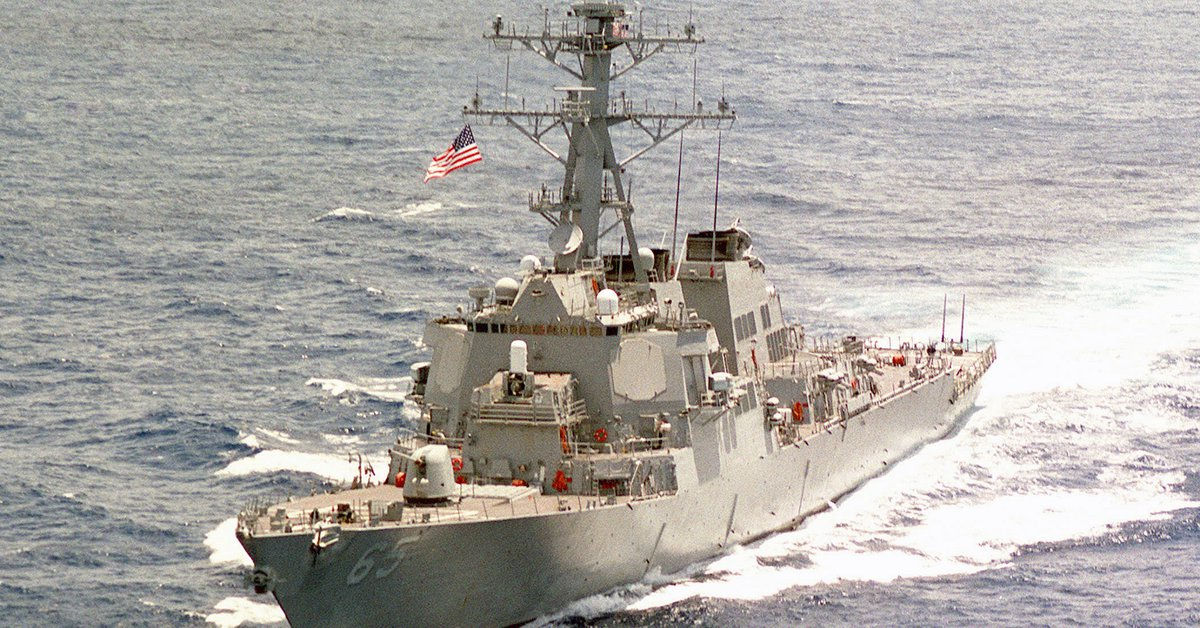 The United States sent a destroyer to the disputed waters in the South China Sea