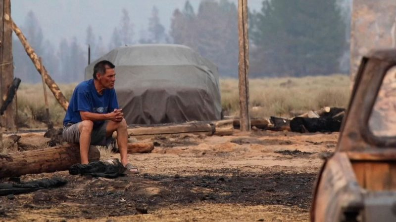 USA wildfires: 'When I got here, it was like a bullet in the stomach'