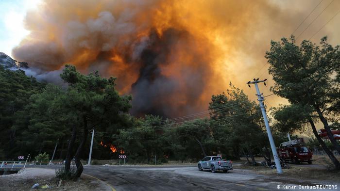 Fires near Marmaris
