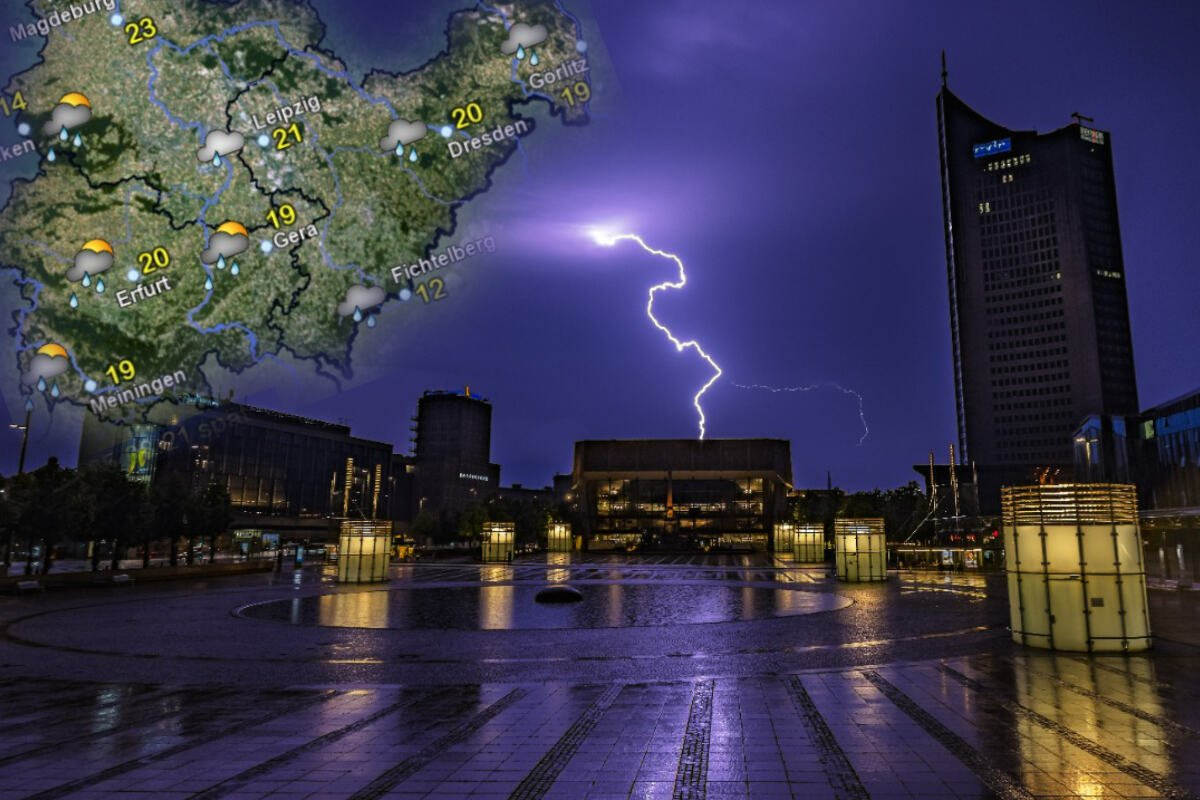Thunderstorms instead of summer heat: This is coming to central Germany