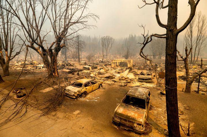 Greenville Center: The village center was badly damaged