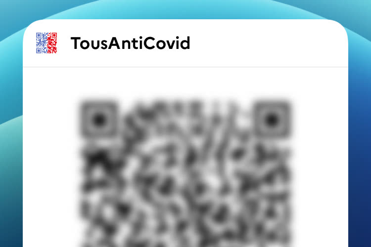 TousAntiCovid has a widget to quickly present your health card