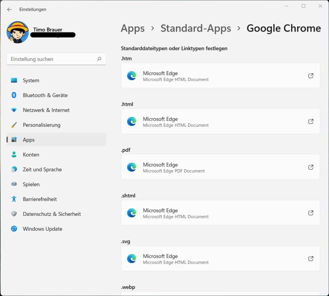 Change the standard Windows 11 browser
