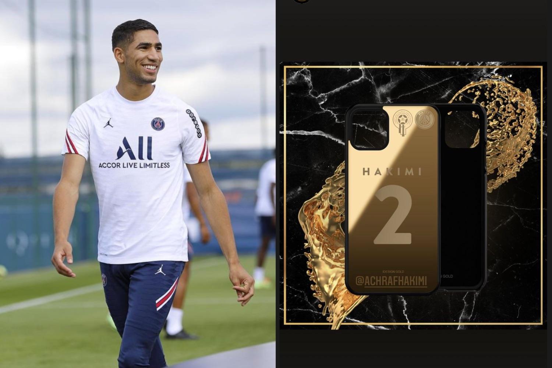 A new gold x PSG smartphone for Ashraf Hakim