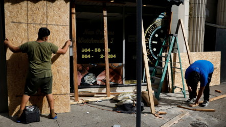 Steel: New Orleans residents brace for severe weather.