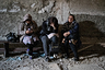 Residents of the city of Shusha in the basement during an air strike