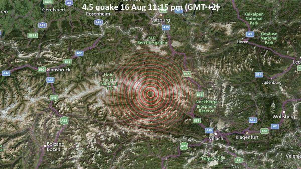 Earthquake in Tyrol on Monday evening (August 16) – its epicenter may have been in the region of Wörgl and Choaz