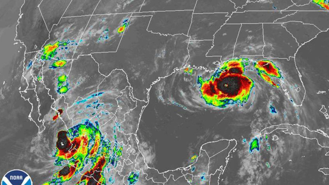 Hurricane Ida (right) is seriously approaching the US southern coast.  To the left is Hurricane Nora, which is now moving over Mexico.