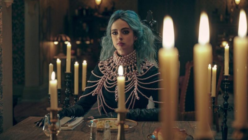 Kristen Ritter is a wicked witch in Nightbooks, the Netflix movie produced by Sam Raimi