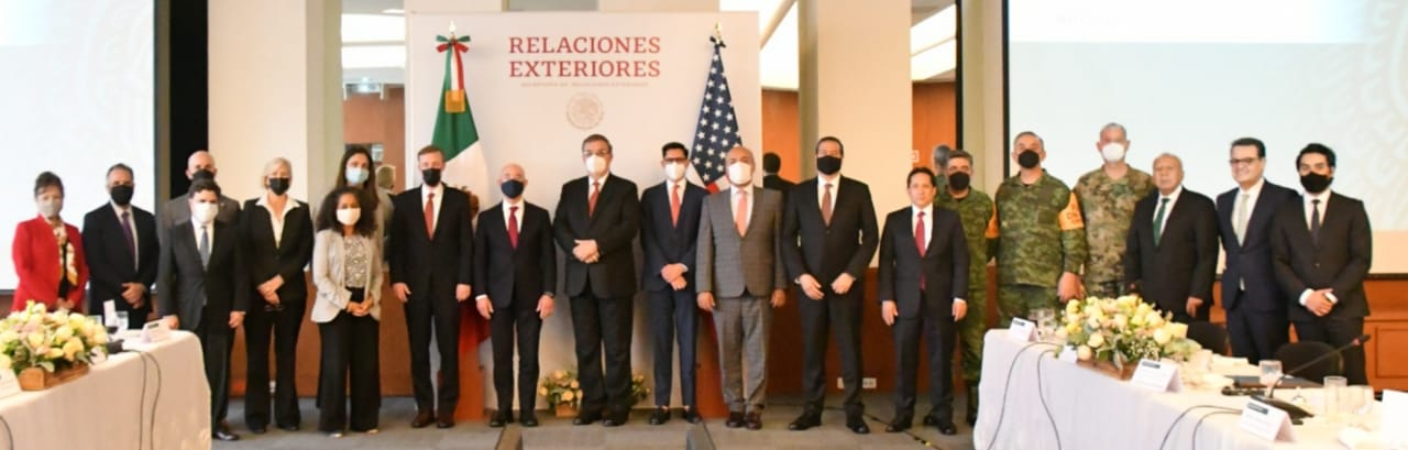 The Mexican government held a meeting with National Security Adviser Joe Biden (Image: Twitter / @m_ebrard)