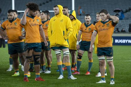 The Australian players were horrified after a hard defeat to New Zealand