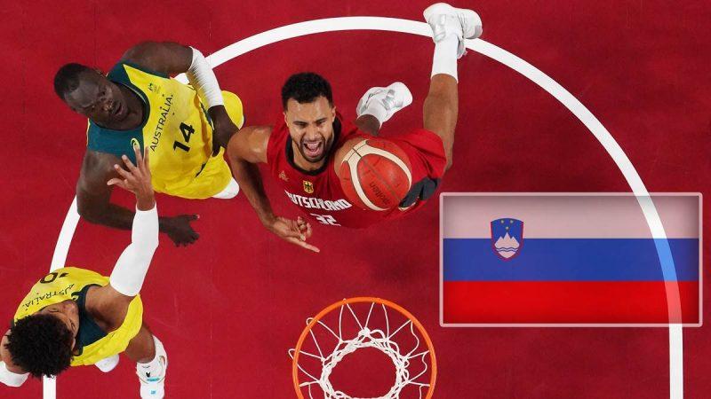 Johannes Thiemann (r.) und die deutschen Basketballer treffen bei Olympia im Viertelfinale auf Slowenien.