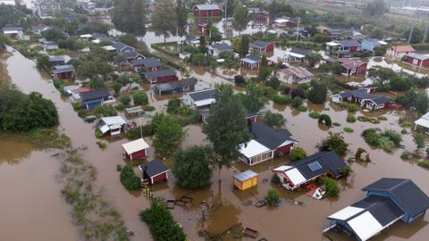 The floods in Western Europe were caused by climate change