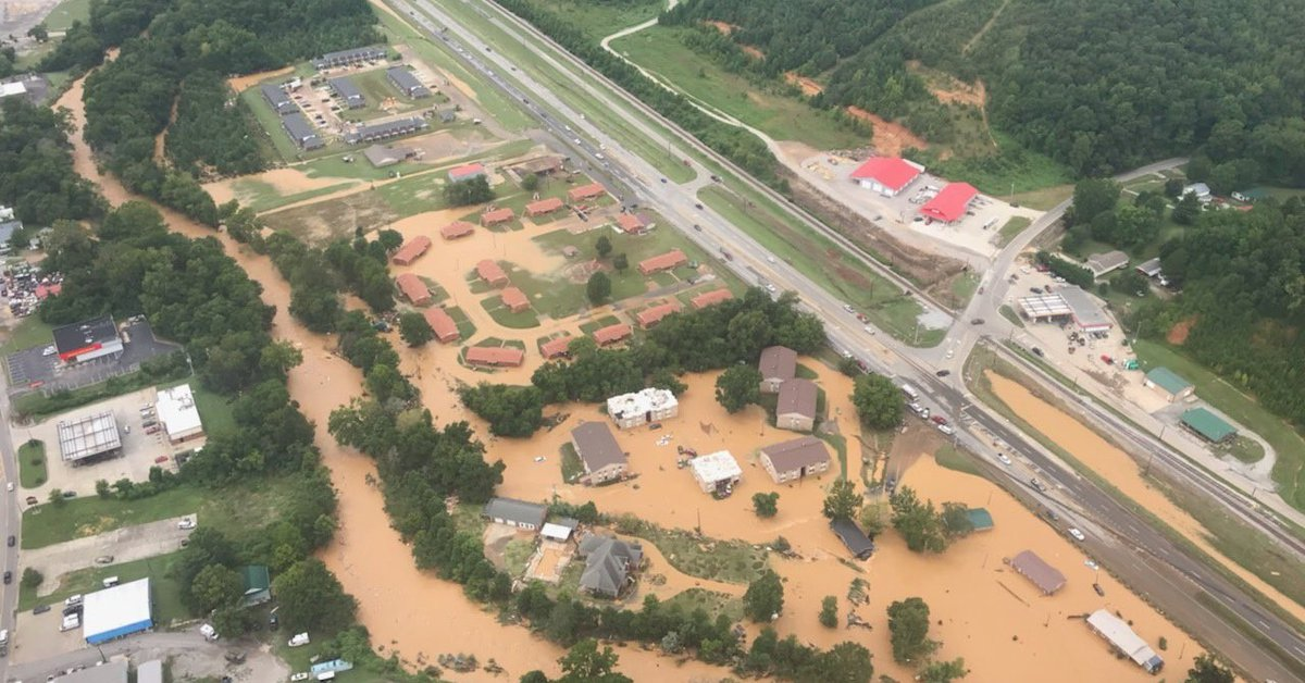 United States of America.  At least 15 dead and 30 missing due to flooding in Tennessee, USA