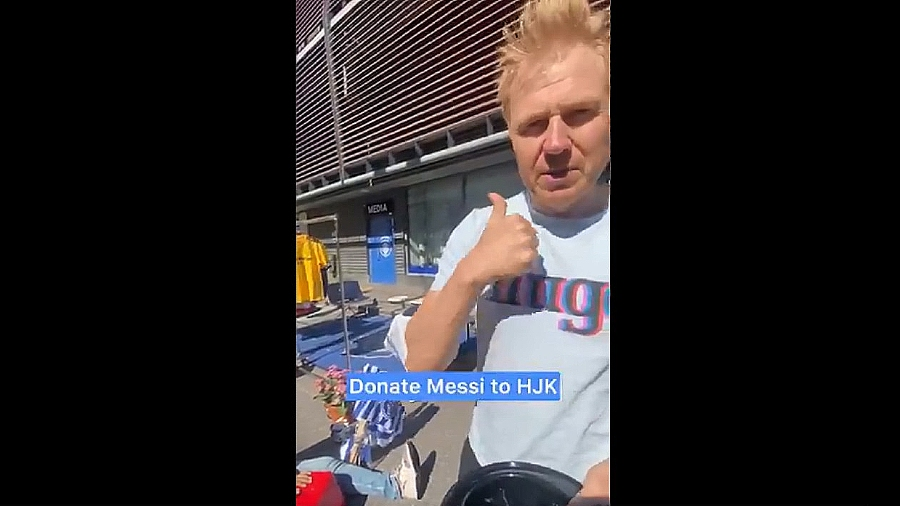 Video.  The CEO of the football club in Finland asks for help to sign Messi