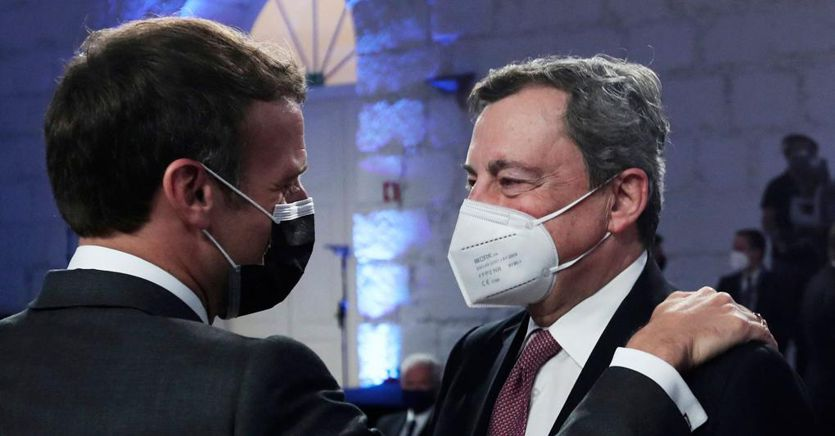 Draghi Macron Dinner.  From Afghanistan to the strategic axis of defense in the European Union between Rome and Paris