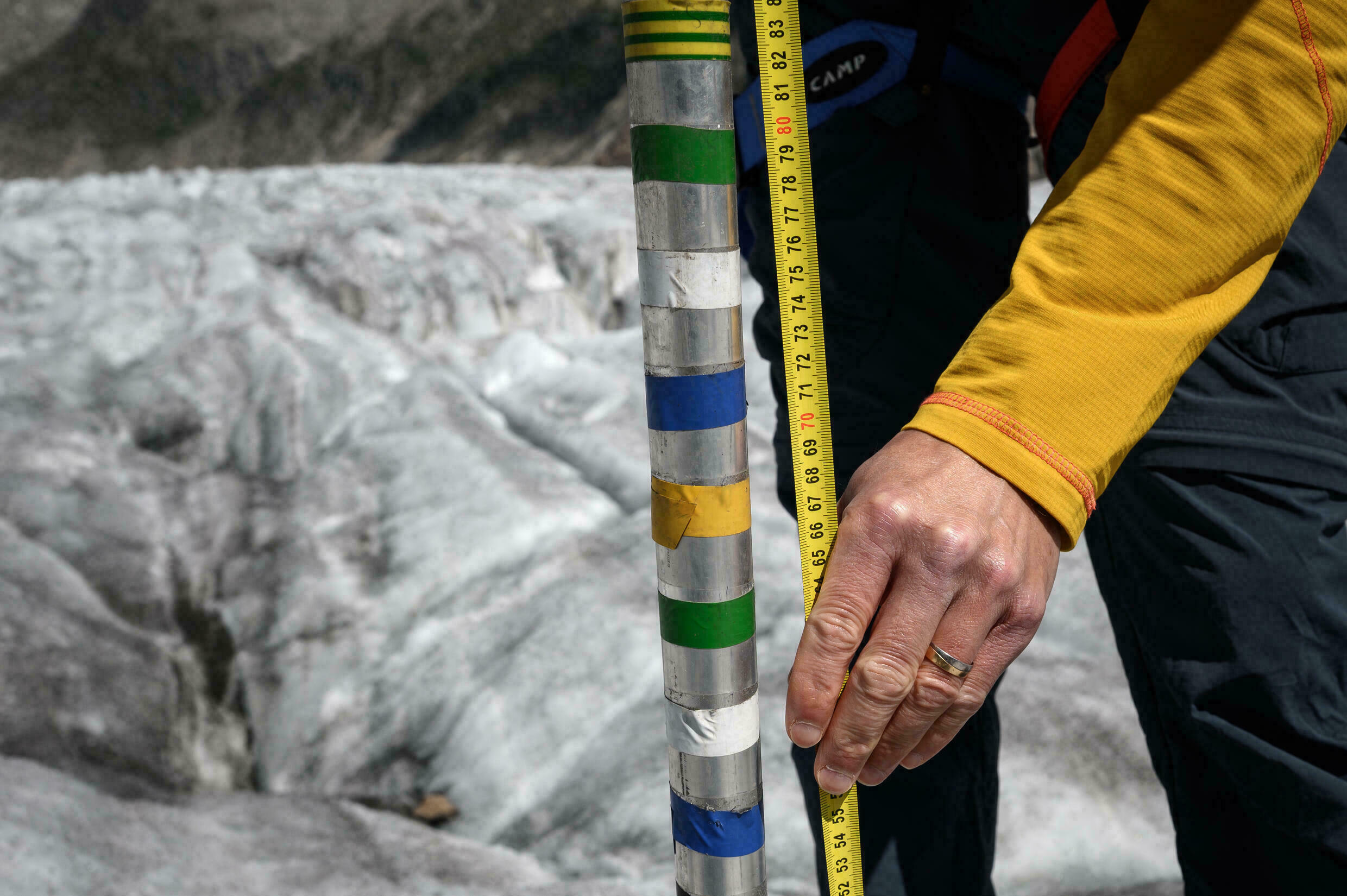 Haas hopes that scientific measurements about the state of glaciers will lead to concrete action