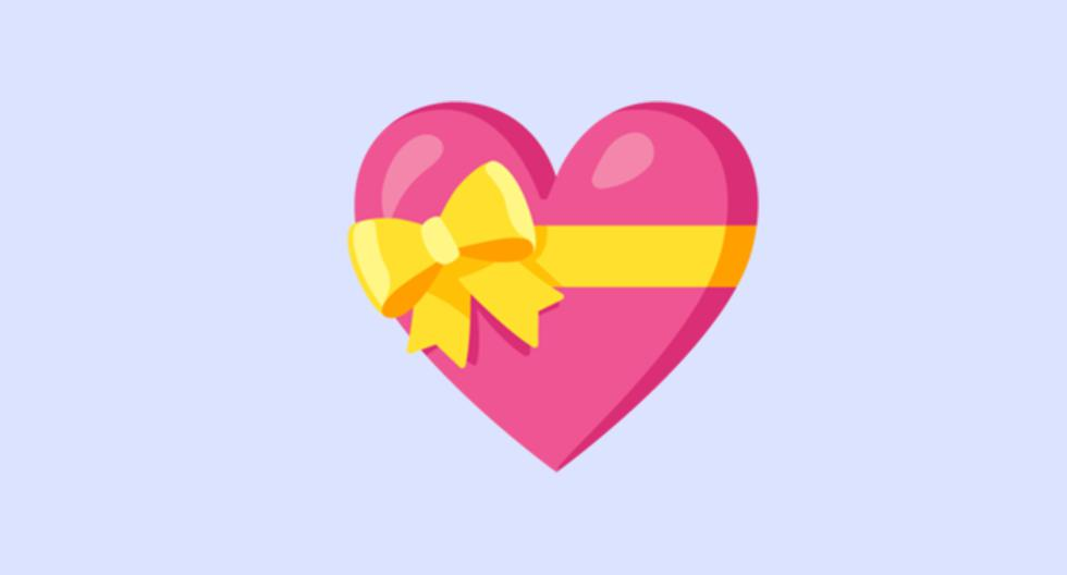 WhatsApp |  Does the heart emoji with a bow mean |  heart with ribbon |  Meaning |  Applications |  Smartphone |  emojipedia |  nda |  nnni |  SPORTS-PLAY
