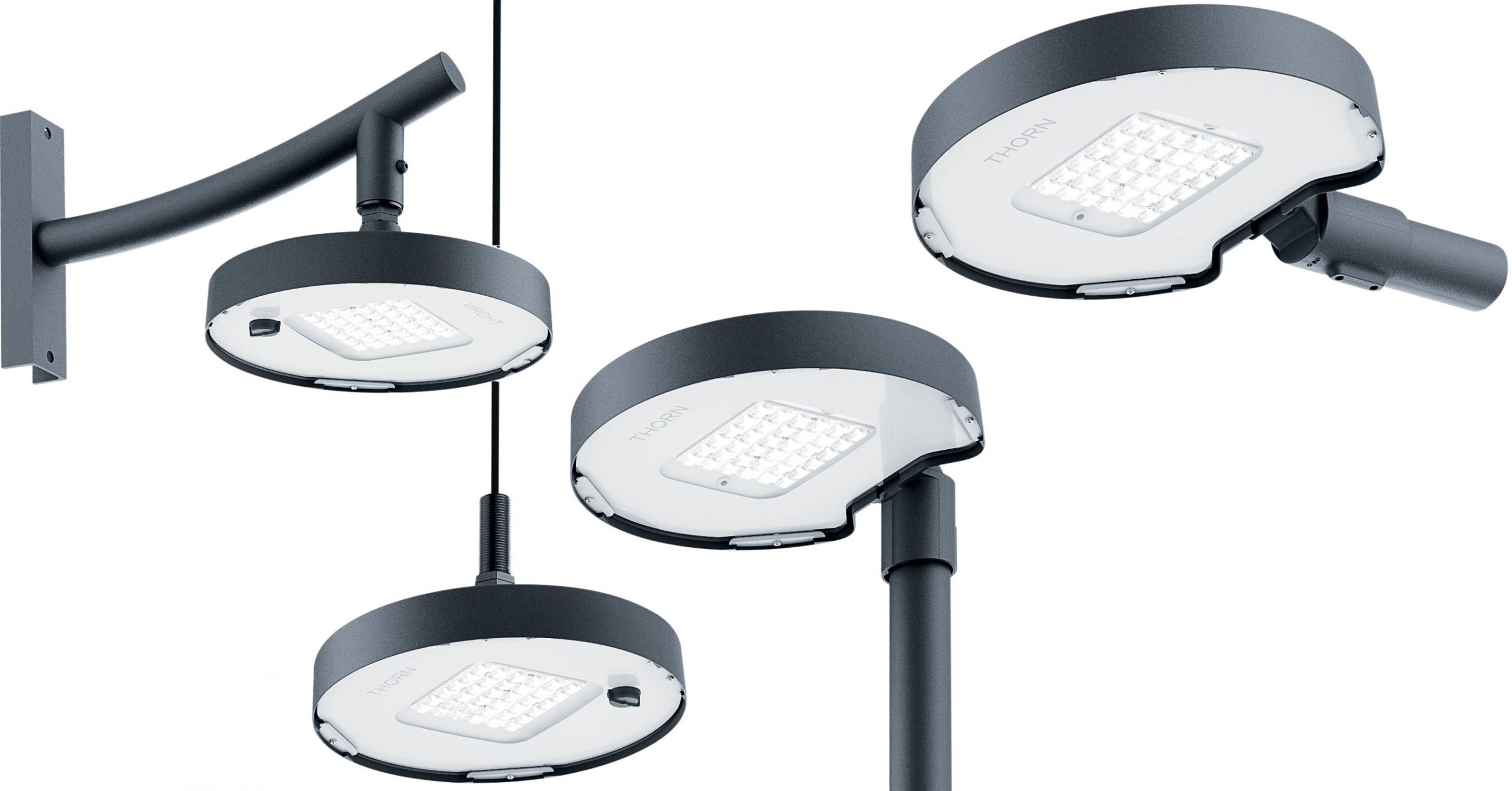 New Thorn urban lighting with variable light distribution technology