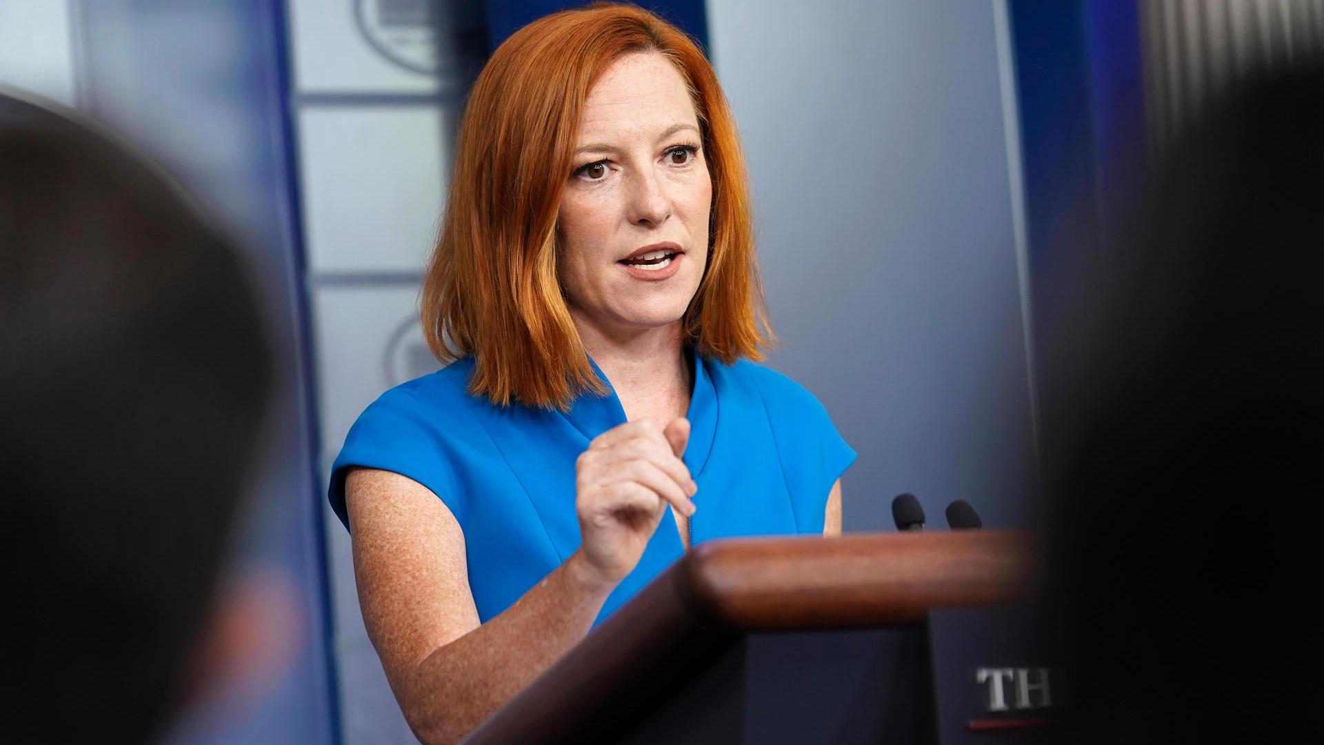 Biden spokeswoman Jen Psaki reprimanded reporters over questions about abortion