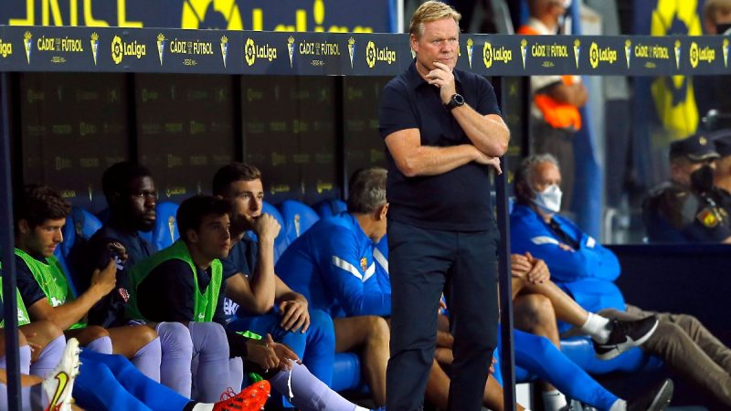 Coach Koeman was counted: Barcelona disappointed with a zero