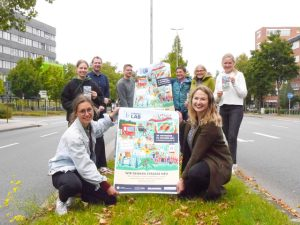 Rethinking the Street at CorrensLab: From today until October 2, the Münster University of Applied Sciences, the WWU and the City of Münster will present ideas to students in public spaces on Corrensstraße.  (Photo: Rina Runge, Münster University of Applied Sciences press office)