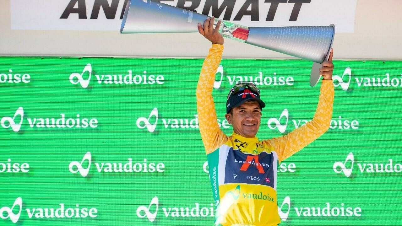 Richard Carabaz won the Tour of Switzerland