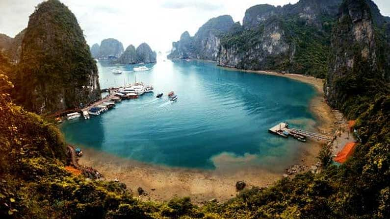 Vietnam: This country is famous for its food and rivers.  Tourists mostly go boating and river surfing here.  This country is definitely loved by the Indians.  Here the value of our rupee is equal to 326.87 Vietnamese dong.
