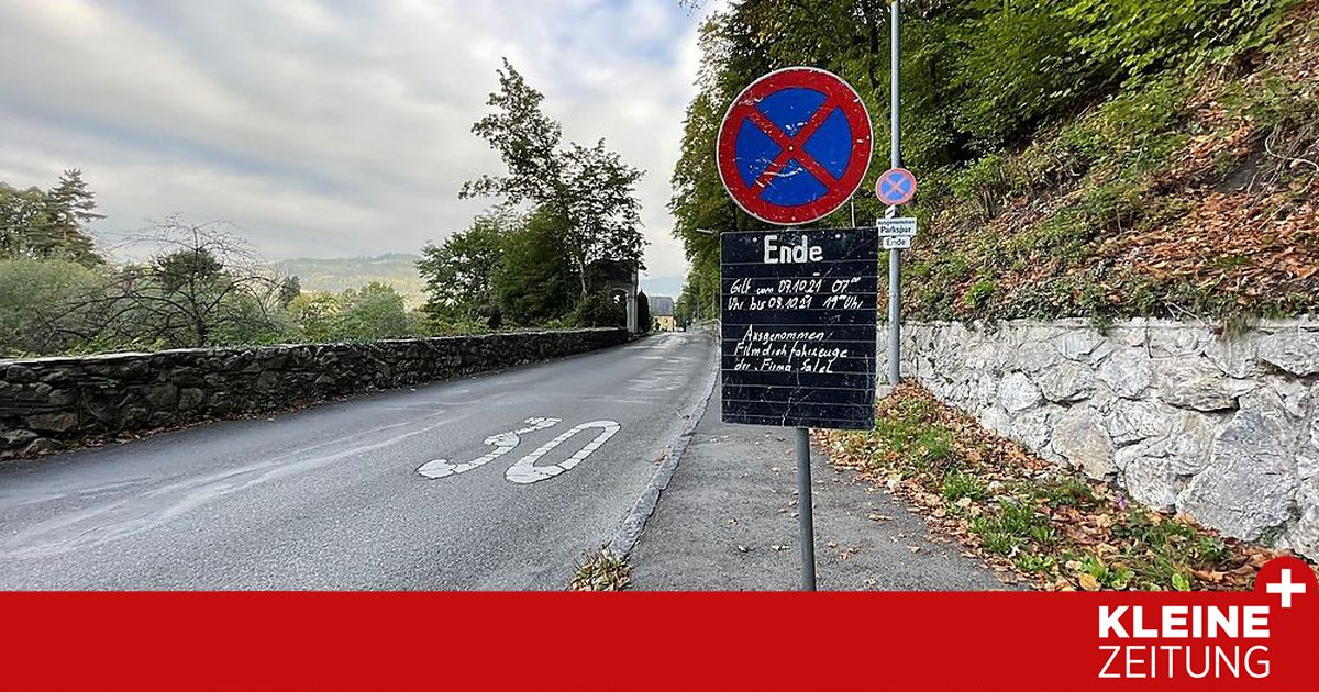 Blackboards leave Facebook users confused about filming in the Leoben area (kleinezeitung.at)