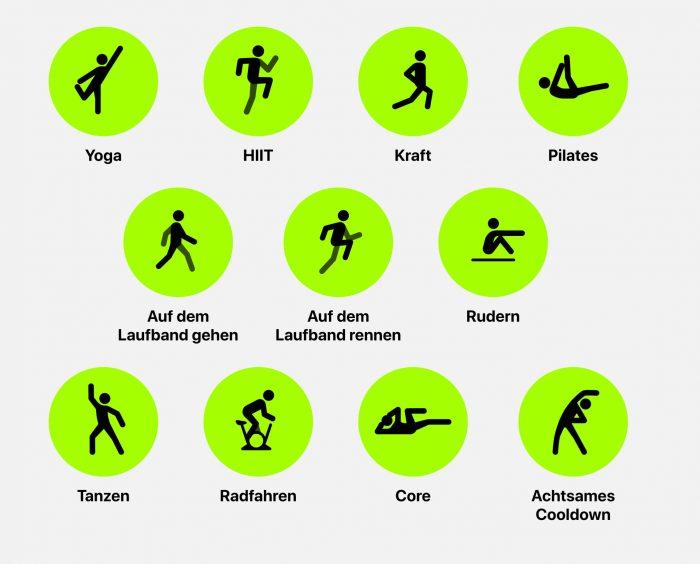 Apple Fitness Plus exercises