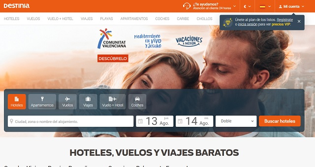 Destinia has already surpassed pre-Covid bookings in Mexico, the United States and Brazil