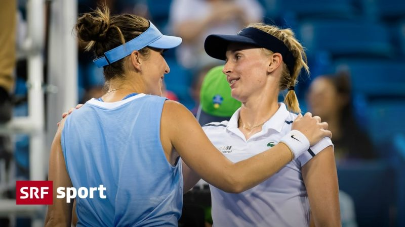 News from tennis - will there be a duel between Bencic and Tishman?  - Sports