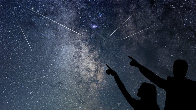 Draconids, Orionids, and Taurids visible in the night sky