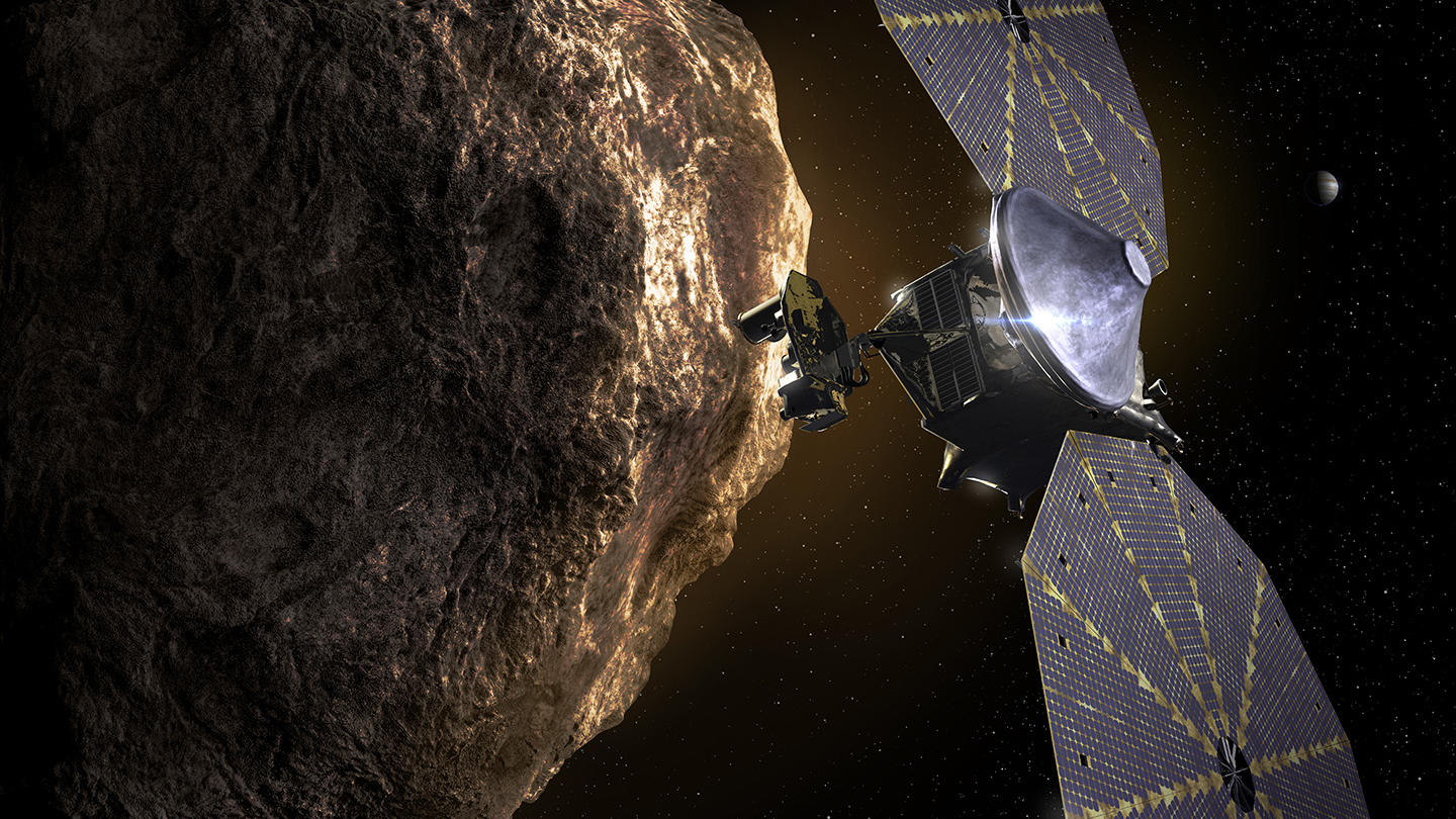 The Lucy spacecraft visits the Trojan asteroids