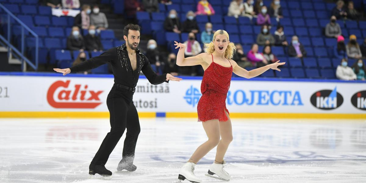 Spain's figure skating team shines in Finland Cup 2021
