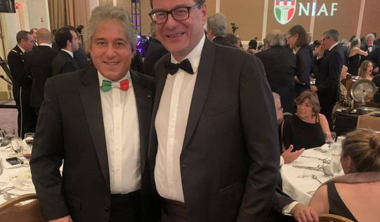 Italy - USA: Nayaf's concert in Washington with Minister Giorgetti.  Among the winners, Fincantieri CEO Giuseppe Bono