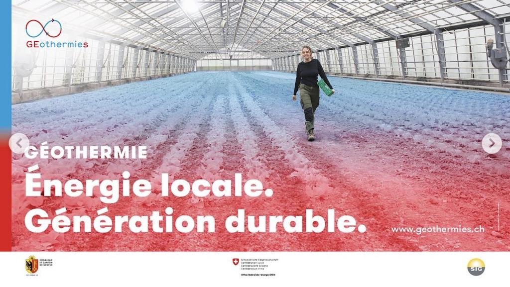 Geothermal energy marketing campaign in Geneva, Switzerland    Think geothermal energy