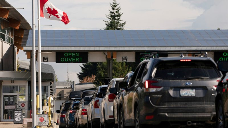 Republicans say Biden opened the Canadian border after several months of vaccinations, according to Schumer.