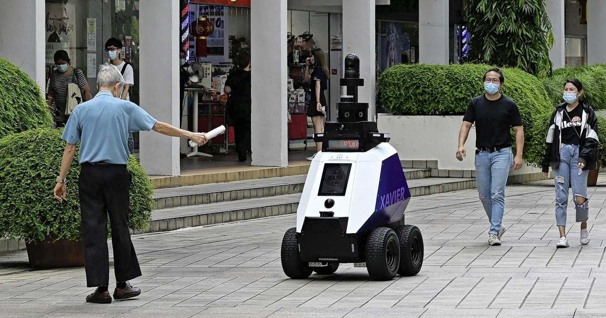 Singapore fears 'dystopia' with patrol robots    Abroad