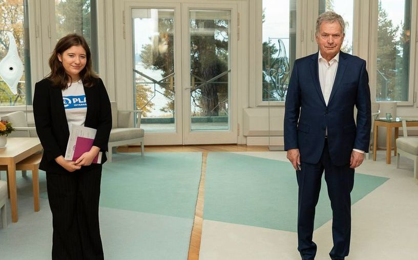 Teen becomes president of Finland for a day