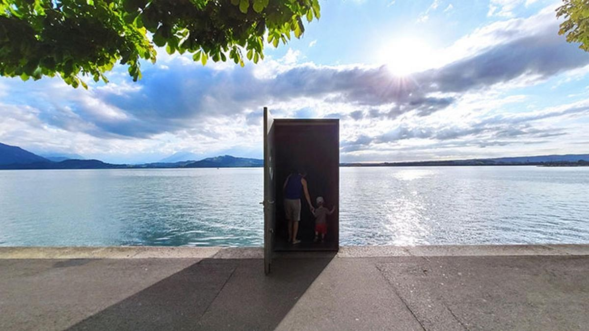 Where does the 'magic' door lead to Lake Zug in Switzerland?     life